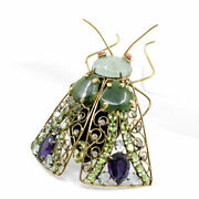 Candd Jewelry Vintage Costume Large Fly Moth Insect Bug Brooch Pin Iradj Moini 4