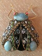 Candd Jewelry Vintage Costume Large Fly Moth Insect Bug Brooch Pin Iradj Moini