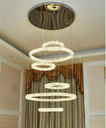 Top Remote Led Crystal Living Room Chandelier Modern Staircase Ceiling Lighting