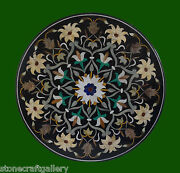 42 Black Coffee Table Top Inlay Pietra Dura Art Work For Home Decor And Gifts