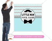 Little Man Party Banner Large Vinyl Indoor Or Outdoor Backdrop Sign Poster