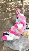 Pink Fox Terrier Mascot Costume Suits Cosplay Party Game Dress Outfits Clothing