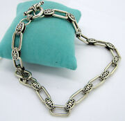Vintage Stunning Ornate King Baby Sterling Silver 144 Gram Thick Toggle Necklace