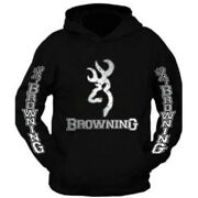 Silver Metal Browning Hoodie All Sizes The Back Is Plain