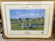 Arnold Palmer Bay Hill Signed Framed Artist Proof Bill Waugh Lithograph 4 Of 10