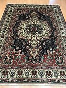 7'2 X 9'7 Antique Indian Oriental Rug - 1930s - Hand Made - 100 Wool