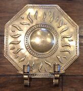 Repousse Sweden Brass Wall Sconce By Torbjörn Testad Candle Holder
