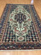 4and0392 X 7and039 Antique Turkish Oriental Rug - 1930s - Hand Made - 100 Wool