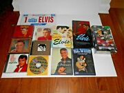 Lot Of 12 Elvis Presley Collectibles Dvds, Music Cds, Cards, Various Items Rare
