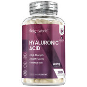 Hyaluronic Acid 180 Capsules For Anti-ageing Face Skin Bones And Joints 300mg