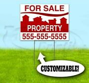 Property For Sale Custom 18x24 Yard Sign With Stake Bandit Realtor Real Estate