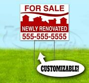 For Sale Renovated Custom 18x24 Yard Sign With Stake Bandit Realtor Real Estate