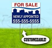 For Sale Appointed Custom 18x24 Yard Sign With Stake Bandit Realtor Real Estate