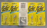 5 Packs Panther Martin Spinners Size 1 1/32oz Yellow Body Silver Blade