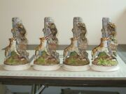 Hoffman Musical Decanters, Wolf And Racoon, Excellent Cond. Music Boxes Work.