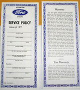 Ford Dealers Service Policy And Warrenty Made Exactly Like Ford D7