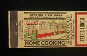 1940s Station View Grill Diner Pete's Lunch Booths For Ladies Springfield Ma Mb