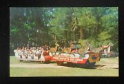 1950s Free Sleigh Ride Tommy Bartlett's Deer Ranch Jeep Xmas Silver Springs Fl