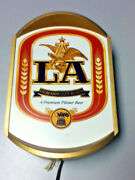 Anheuser-busch Beer Sign La Back Bar Lighted Wall 1984 Low Alcohol Light Mx6