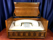 Vintage Deco-tel Western Electric Phone In Decorative Wooden Box