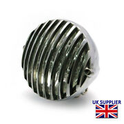 Headlight For Harley Davidson Dyna Project 4 1/2 12v 35w Polished Alloy Grill