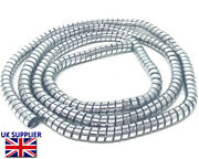 Motorcycle Trike Cable Cover Custom Chrome Thick Spiral Wire Wrap 10mm X 1.5m