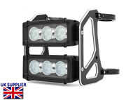 Motorcycle Headlight Led Streetfighter Light Bar Dual Double For 42-43mm Forks