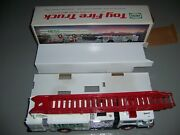 1989 Hess Ladder Fire Truck Bank Vintage Collectible New Condition All Inserts