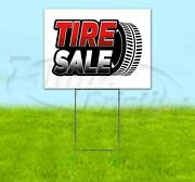 Tire Sale 18x24 Yard Sign With Stake Corrugated Bandit Usa Business Deals