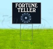 Fortune Teller 18x24 Yard Sign With Stake Corrugated Bandit Usa Psychic