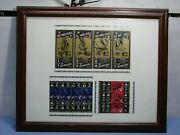 1994 Chicago White Sox Signed Tickets Framed Display Frank Thomas And More L@@k