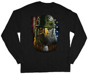 Military Eagle Army Marines Usmc Shirt Graphic Tees Long Sleeve Gifts For Men