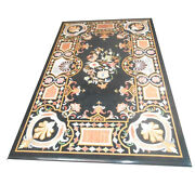 48 X 32 Marble Dining Table Top Inlay Work Handicraft For Home Decor