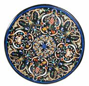 40 Coffee Table Top Marble Inlay Lapis Pietra Dura Art For Home And Garden