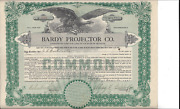 Bardy Projector Co.........1922 Common Stock Certificate