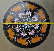 23 Coffee Table Top Black Marble Pietra Dura Handmade Home Decor And Gifts