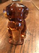 Degenhart Glass Pooch Peach Rare 1930andrsquos/50andrsquos Made In Ohio Free Shipping L@@k