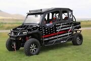 16-current Polaris General 1000 4 Graphic Matte Wrap Thin Red Line Flag Kit