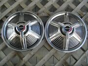 Two 1965 65 Ford Mustang Hubcaps Wheel Covers Center Cap Antique Vintage Classic
