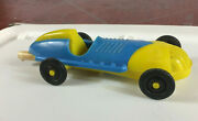 Vintage Antique Tootsie Toy Marx Plastic Race Car Model Boat Tail Indy Vehicle