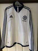 2012/2013 Chelsea White Drill Top Large Menand039s Adidas Samsung Training Jacket Cfc