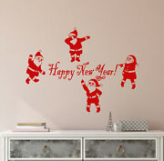 Vinyl Wall Decal Santa Claus Christmas New Year Logo Quote Party Stickers 4163ig