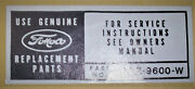 Ford Cars And Mustang Use Genuine Fomoco Parts Decal C5zz9600w Or 760