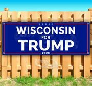 Wisconsin For Trump 2020 Advertising Vinyl Banner Flag Sign Many Sizes Usa Maga