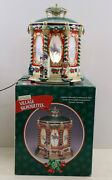 Mr. Christmas Village Silhouettes Carousel Holiday Tabletop Display