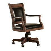 Hillsdale Furniture Freeport Wood Game Desk Chair With Casters Weathered Walnut