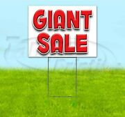 Giant Sale 18x24 Yard Sign With Stake Corrugated Bandit Usa Business Deals