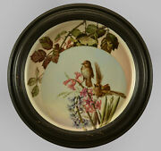 Antique Russian Hand Painted Porcelain Wall Plate,19thc