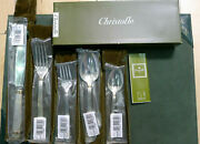 Christofle Aria Gold Sterling 5pc Dinner Place Setting Flatware Silverware New