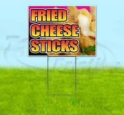 Fried Cheese Sticks 18x24 Yard Sign With Stake Corrugated Bandit Business Food